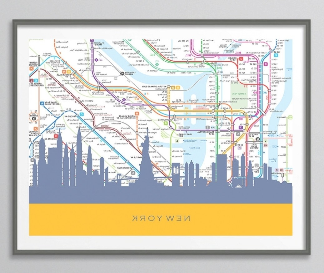 Nyc Subway Wall Art - Subway Map Etsy - Iltribuno regarding Nyc Subway Map Wall Art (Image 19 of 20)