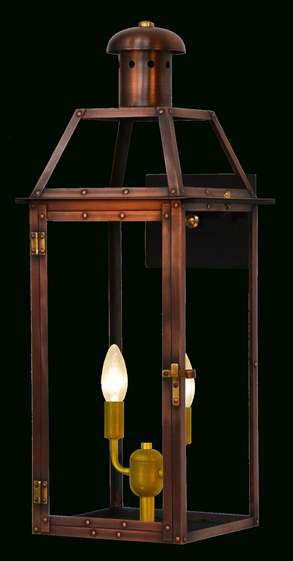 Oakley Gas Or Electric Copper Lantern - French Market Gas & Electric with Copper Outdoor Electric Lanterns (Image 11 of 20)