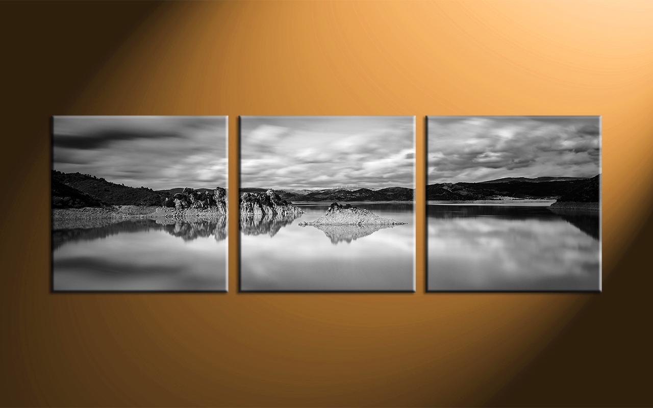 Ocean Black Panoramic Wall Art : Andrews Living Arts - Masculine pertaining to Panoramic Wall Art (Image 14 of 20)