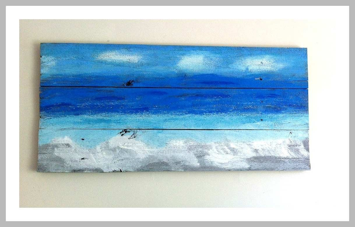 Ocean Paintings On Canvas Luxury Ocean Wall Art From Recycled Wood with regard to Ocean Wall Art (Image 15 of 20)