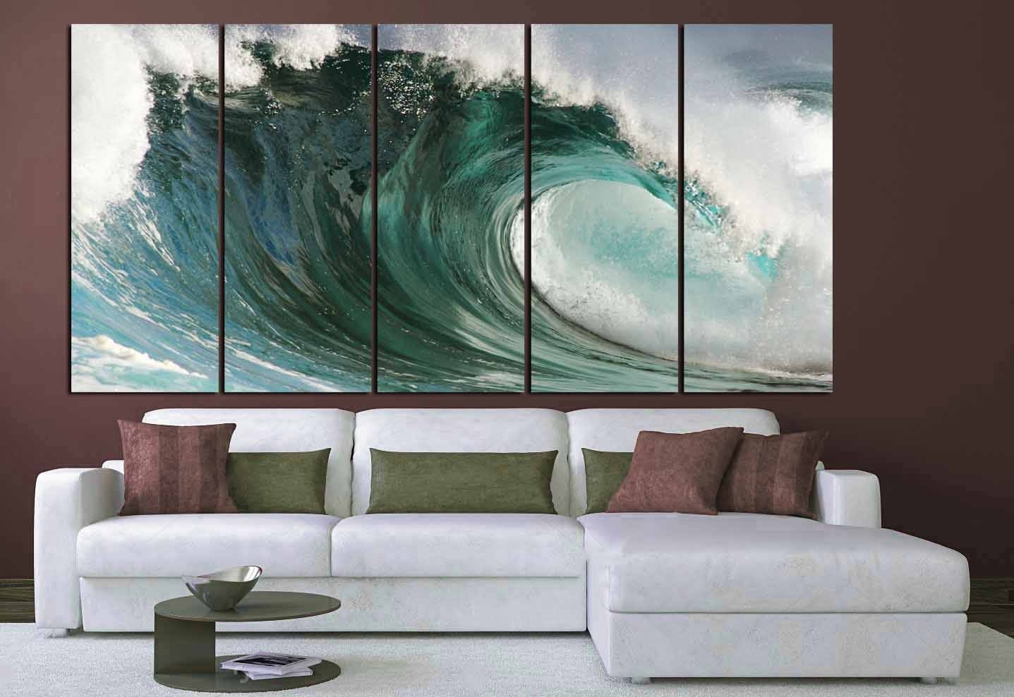 Ocean Waves Art,large Ocean Wall Art, Ocean Waves Canvas Art,ocean with Ocean Wall Art (Image 17 of 20)