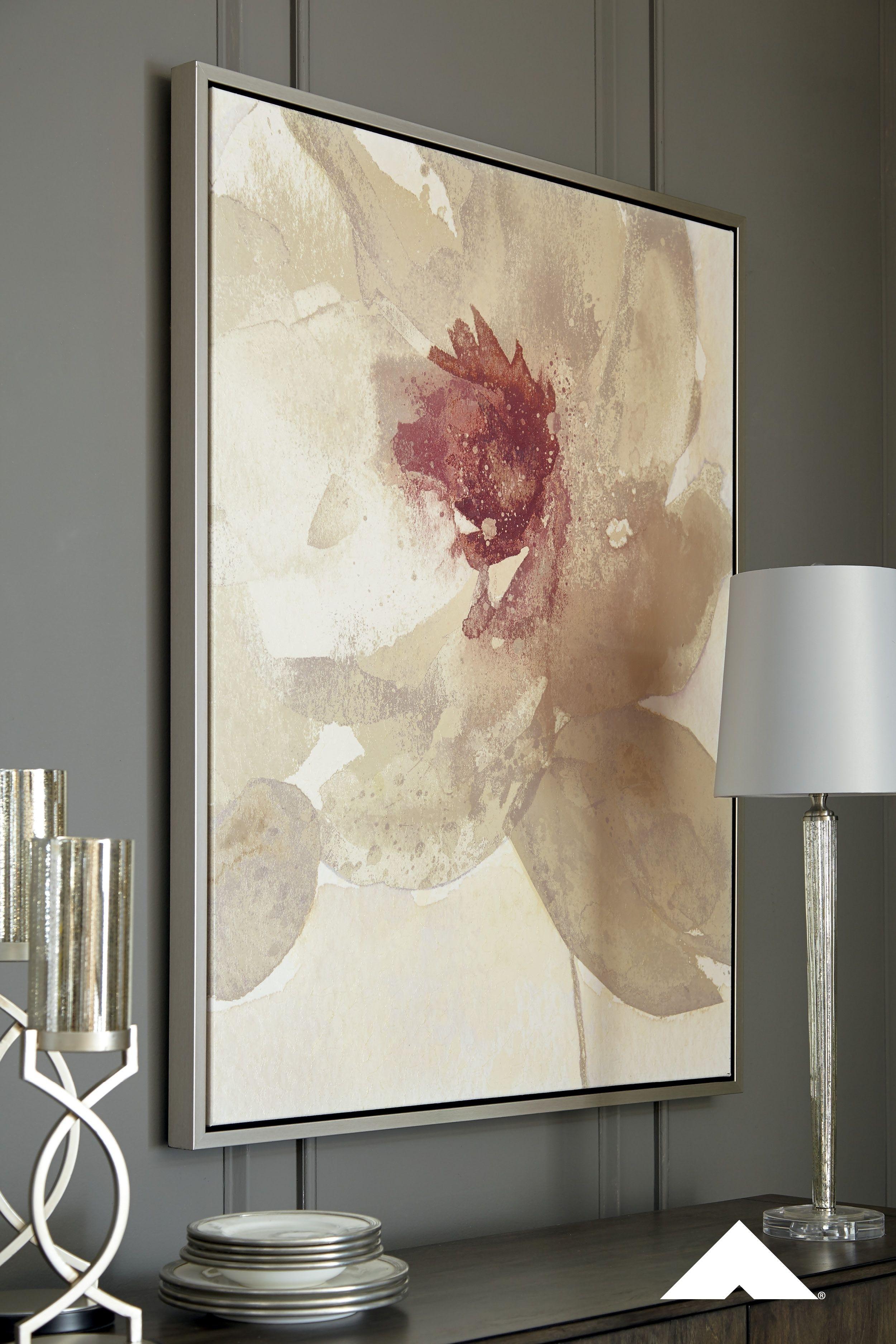 Odam Floral Wall Artashley Furniture | #homedecor #wallart #art with Ashley Furniture Wall Art (Image 18 of 20)