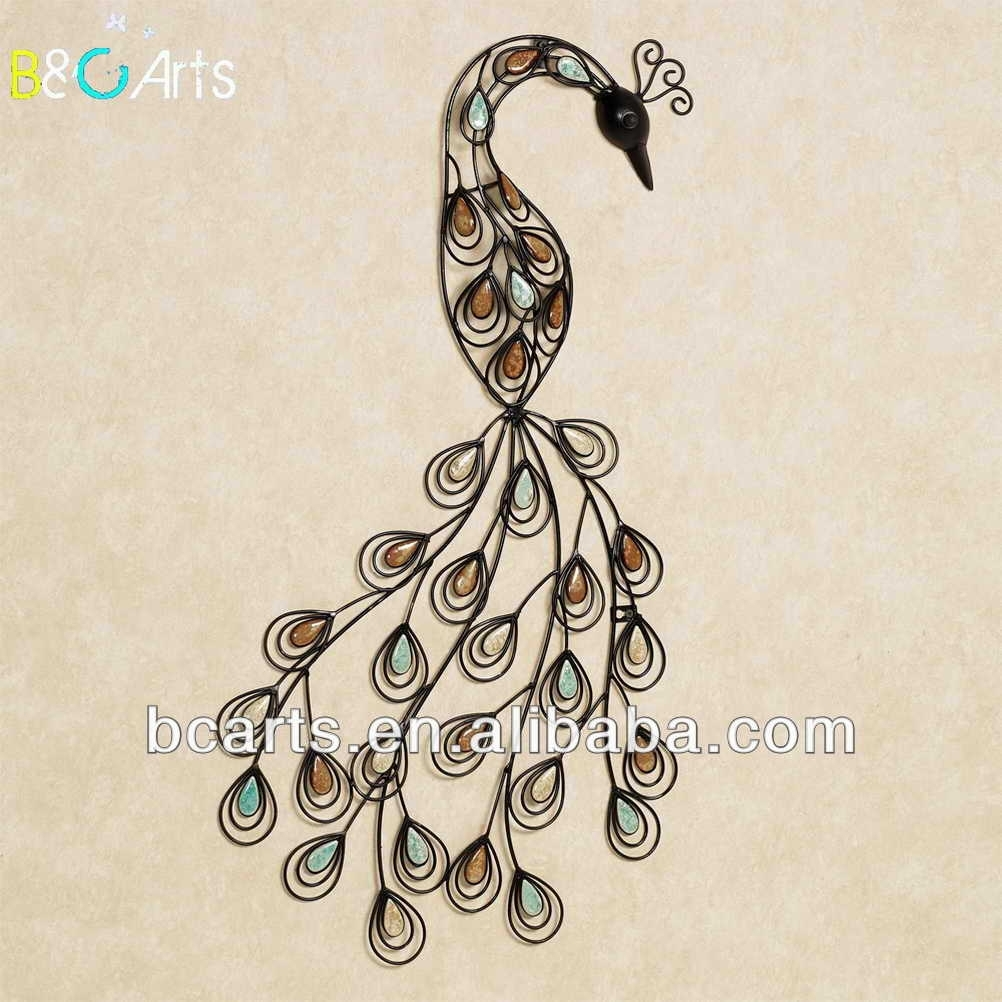 Oem Beautiful Carved Metal Peacock Wall Art Decor From China – Buy Intended For Peacock Wall Art (View 8 of 20)