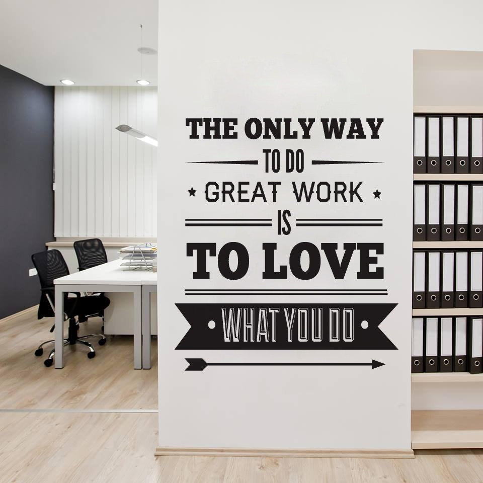 Office Decor Typography Inspirational Quote Wall Decoration Art intended for Inspirational Quotes Wall Art (Image 17 of 20)