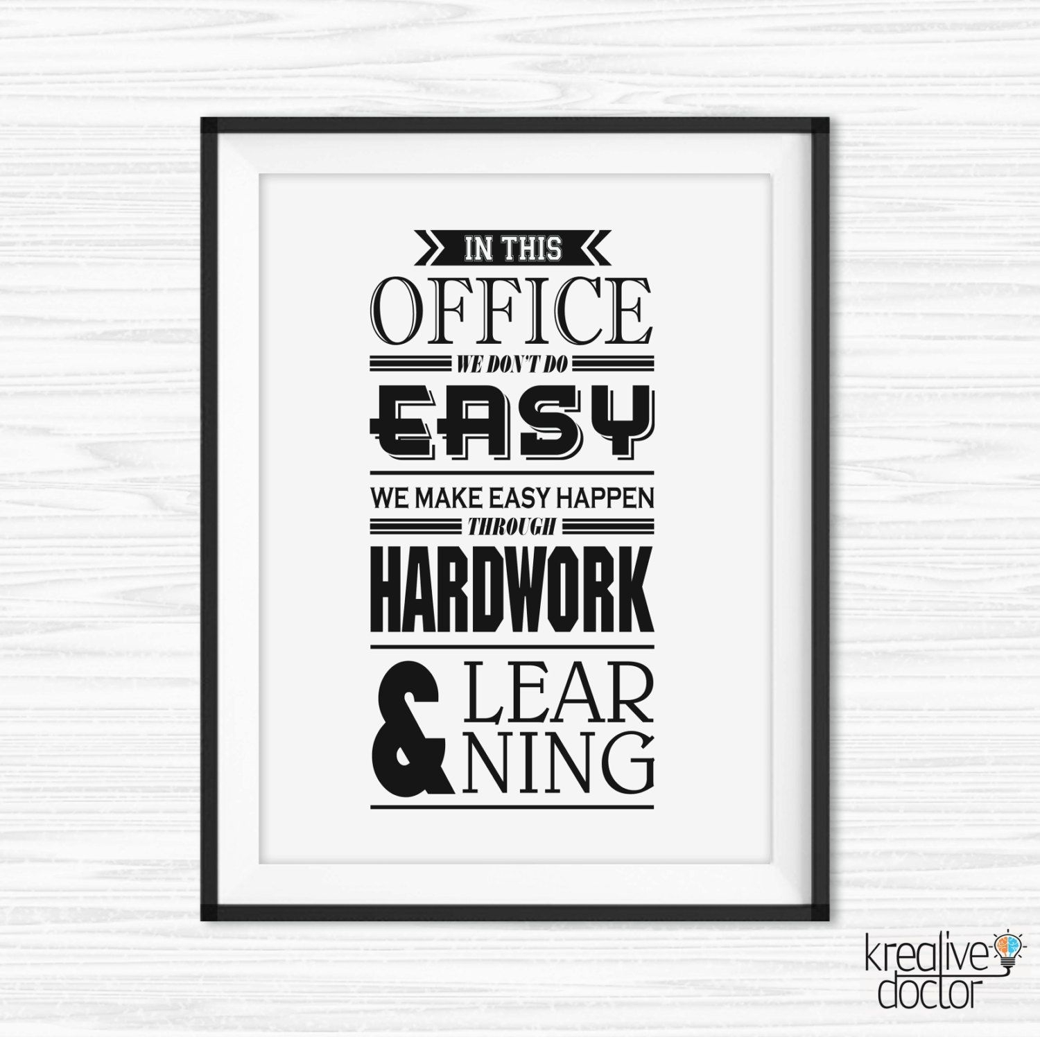 Office Wall Art Motivational Poster Inspiration Canvas Quotes Intended For Motivational Wall Art (View 3 of 20)