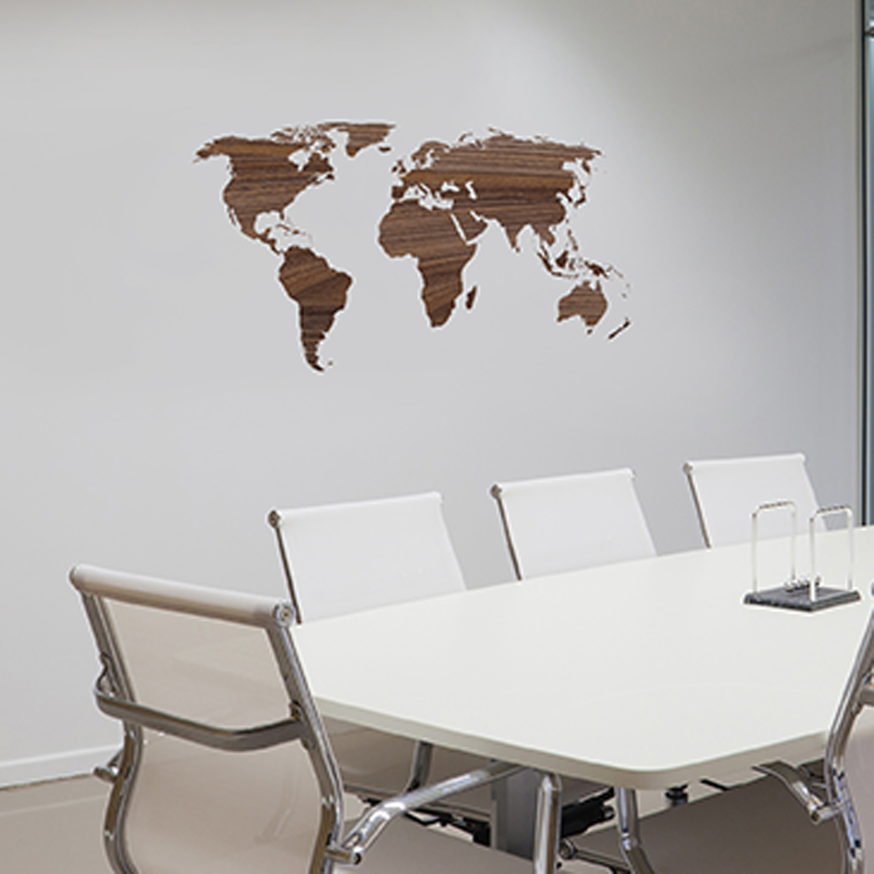Office World Map World Map Wall Decor For Modern Office Design With throughout Map of the World Wall Art (Image 6 of 20)