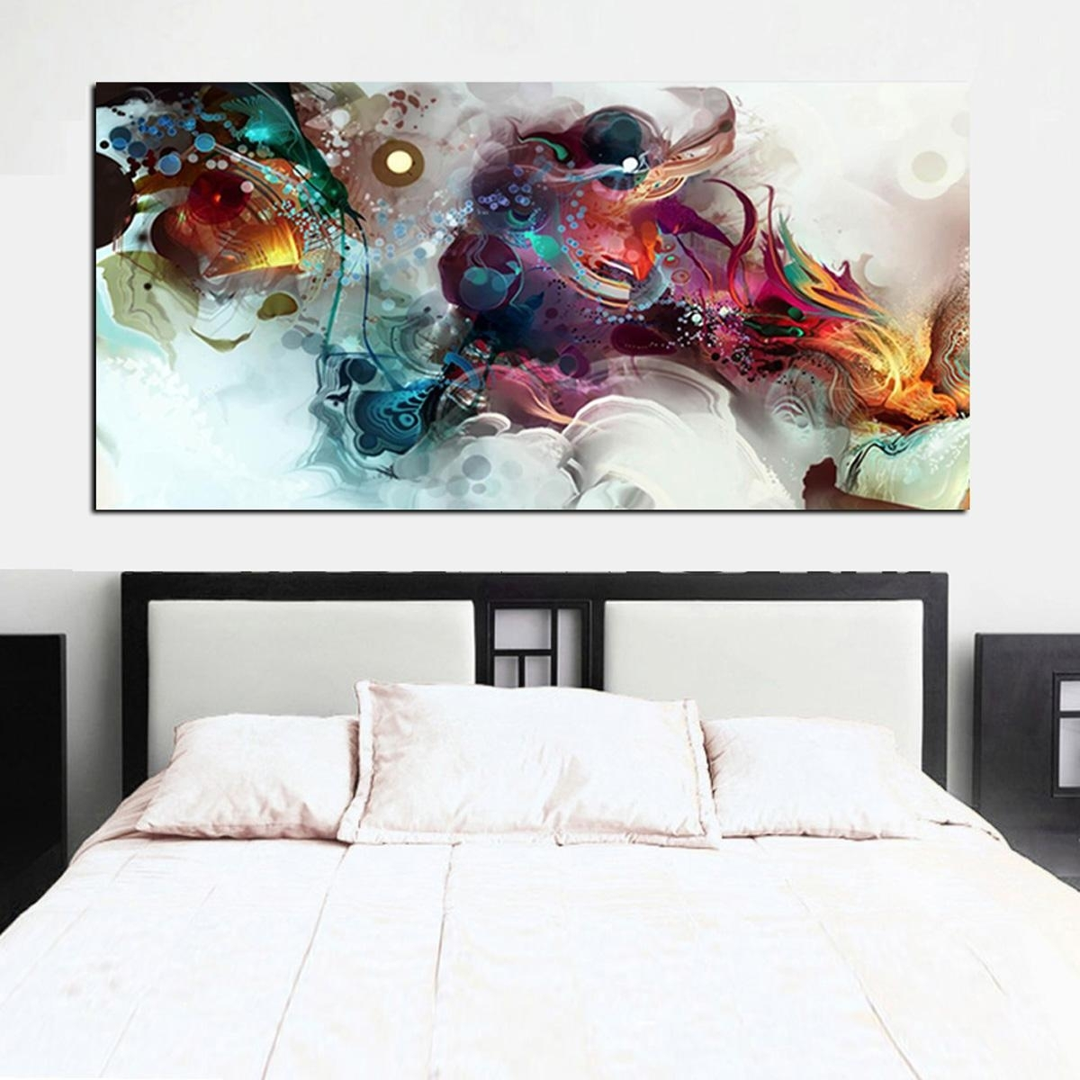 Oil Painting Printed On Canvas Colorful Wall Pictures For Living intended for Colorful Wall Art (Image 18 of 20)