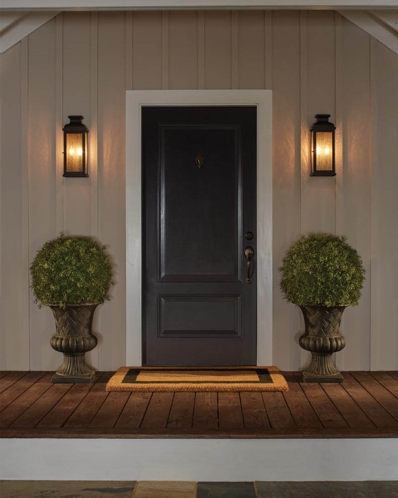 Ol11100Dac,2 - Light Outdoor Sconce,dark Aged Copper pertaining to Outdoor Lanterns for Front Door (Image 16 of 20)