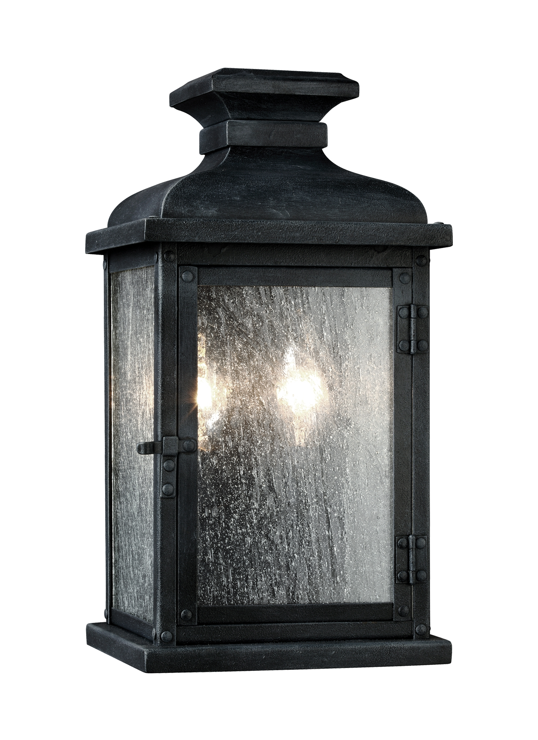 Ol11100Dwz,2 - Light Outdoor Sconce,dark Weathered Zinc in Zinc Outdoor Lanterns (Image 15 of 20)