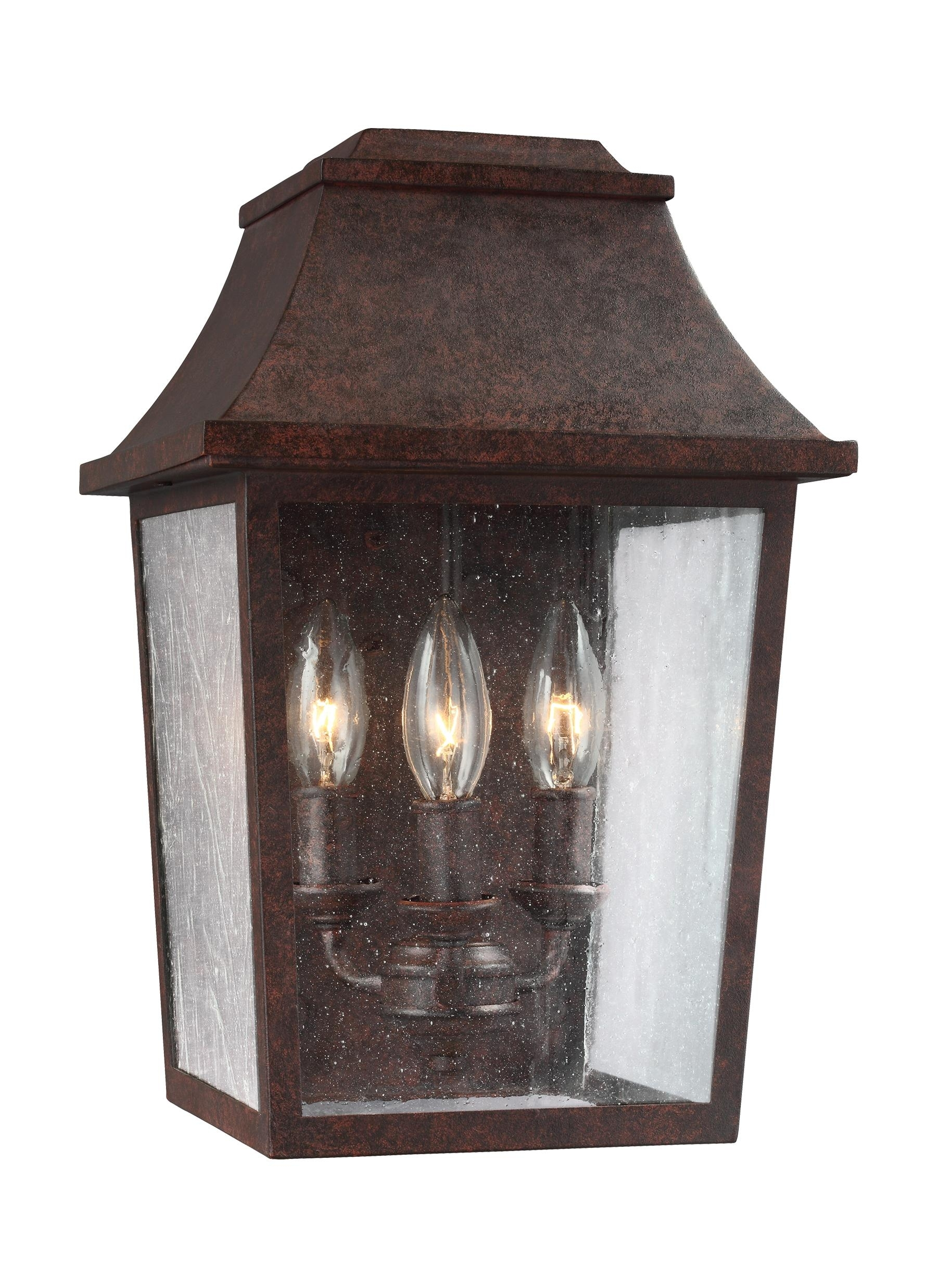 Ol11901Pcr,3 – Light Outdoor Wall Lantern,patina Copper In Copper Outdoor Lanterns (View 10 of 20)