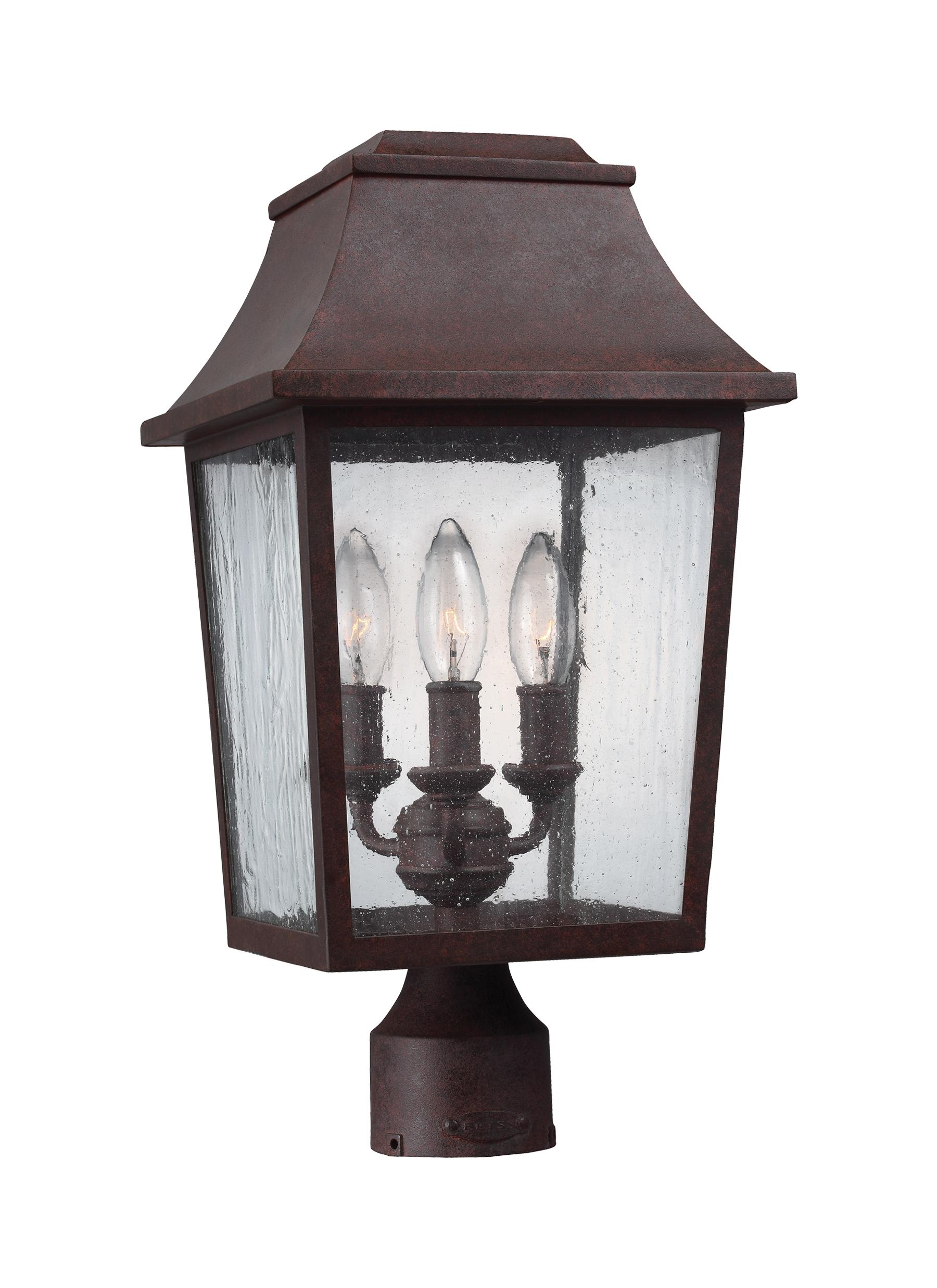 Ol11909Pcr,3 – Light Outdoor Post Lantern,patina Copper Throughout Copper Outdoor Lanterns (View 11 of 20)