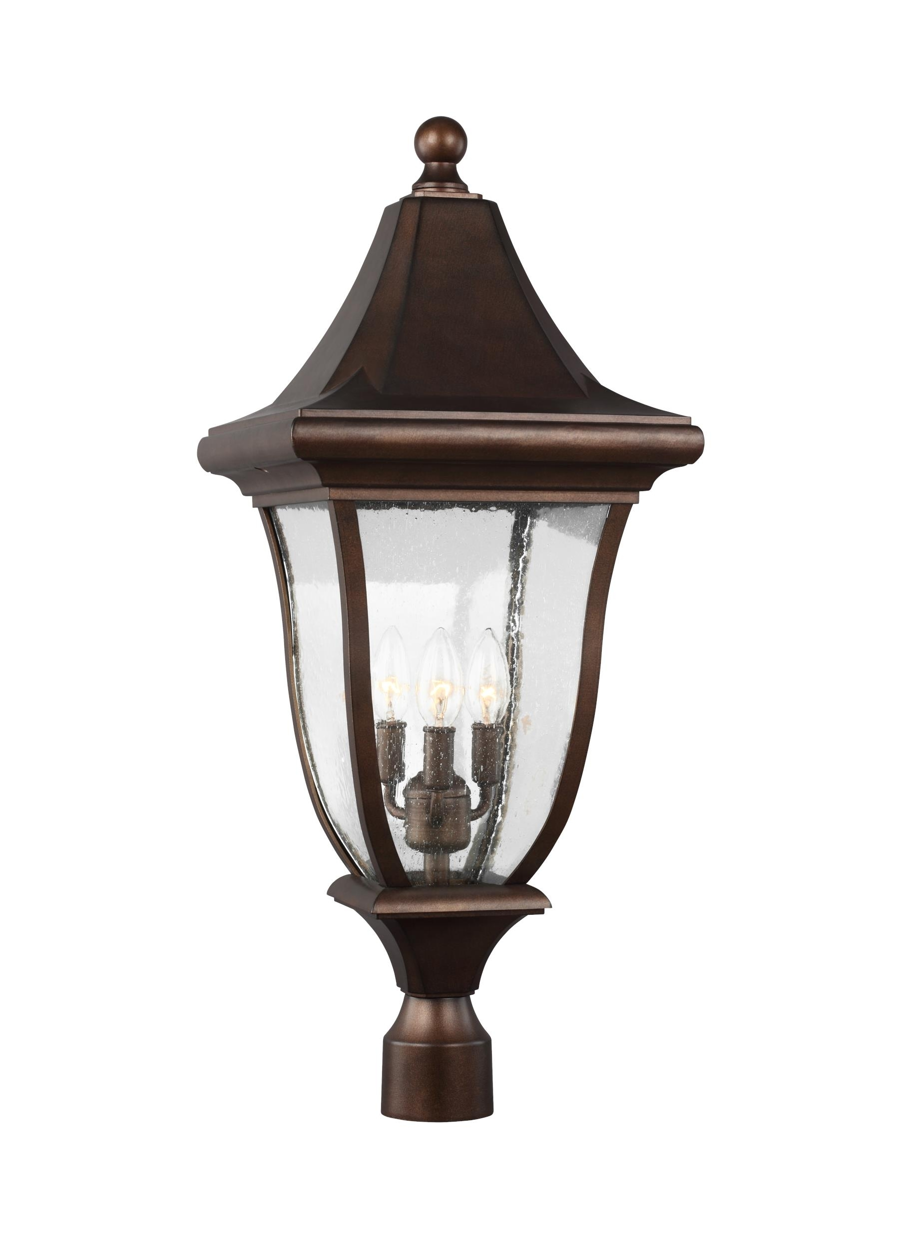 Ol13107Ptbz,3 - Light Outdoor Post Lantern,patina Bronze inside Outdoor Pillar Lanterns (Image 6 of 20)