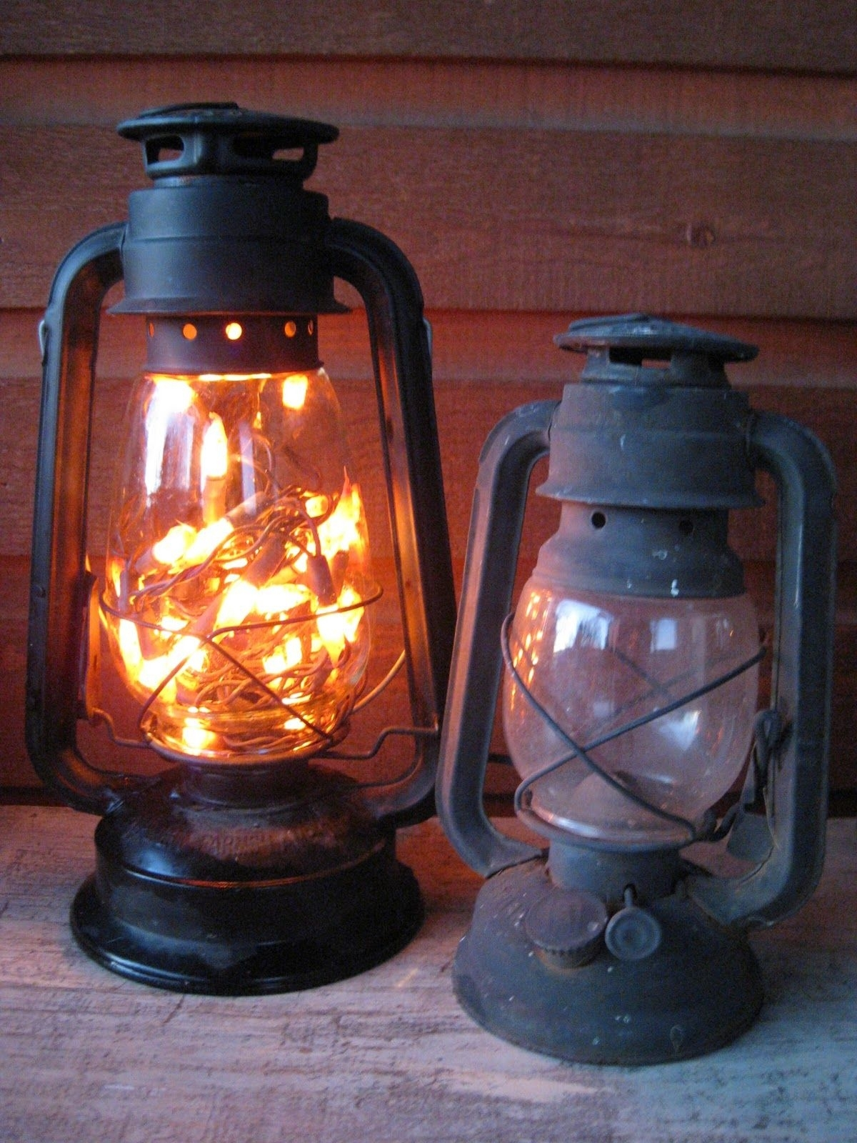 Old Lantern. Battery Opereated Lights Inside. No Plug Needed And with regard to Decorative Outdoor Kerosene Lanterns (Image 16 of 20)