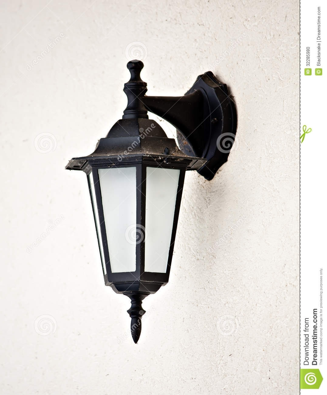 Old Vintage Outdoor Lantern Wall Hanging Lamp Stock Photo, Lamps With Regard To Vintage Outdoor Lanterns (View 2 of 20)