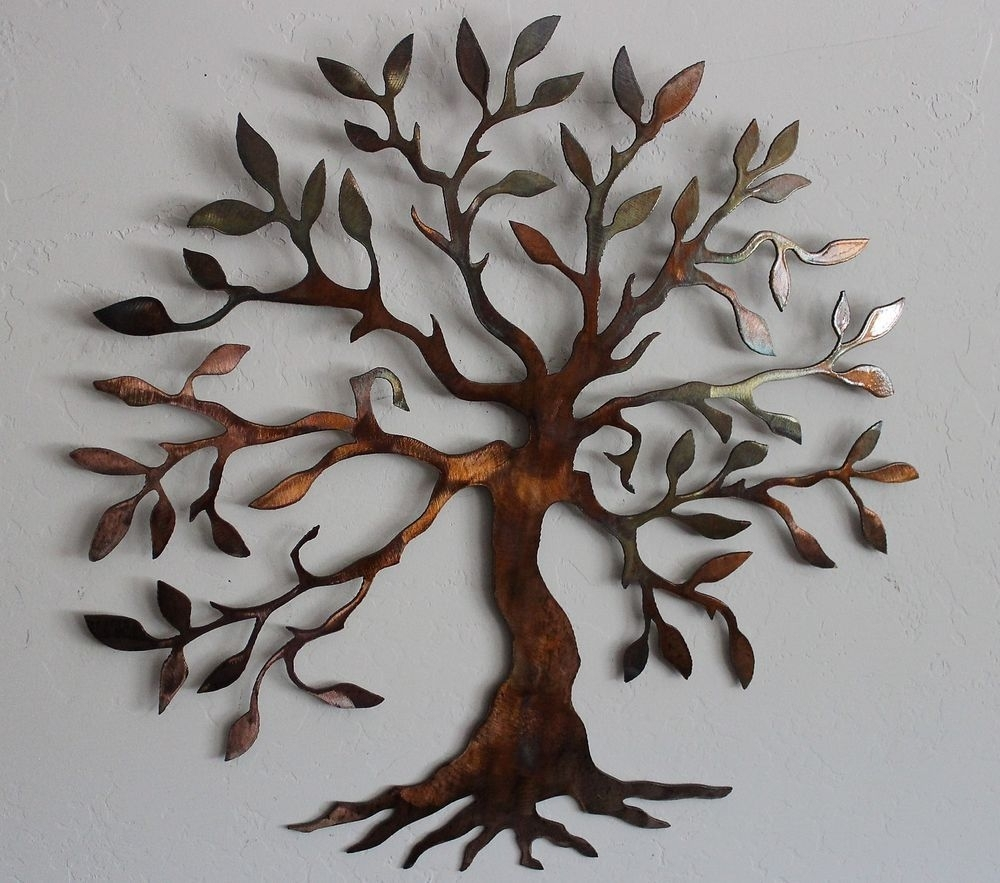 Olive Tree --Tree Of Life Metal Wall Art Decor | Tree Of Life Search intended for Iron Wall Art (Image 12 of 20)
