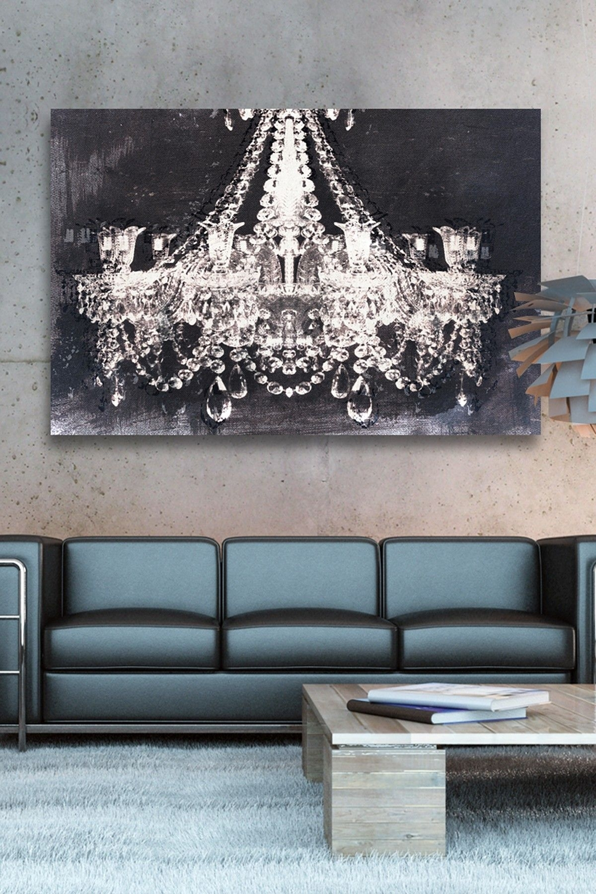 Oliver Gal Dramatic Entrance Night Canvas Wall Art | Http With Regard To Chandelier Wall Art (View 17 of 20)