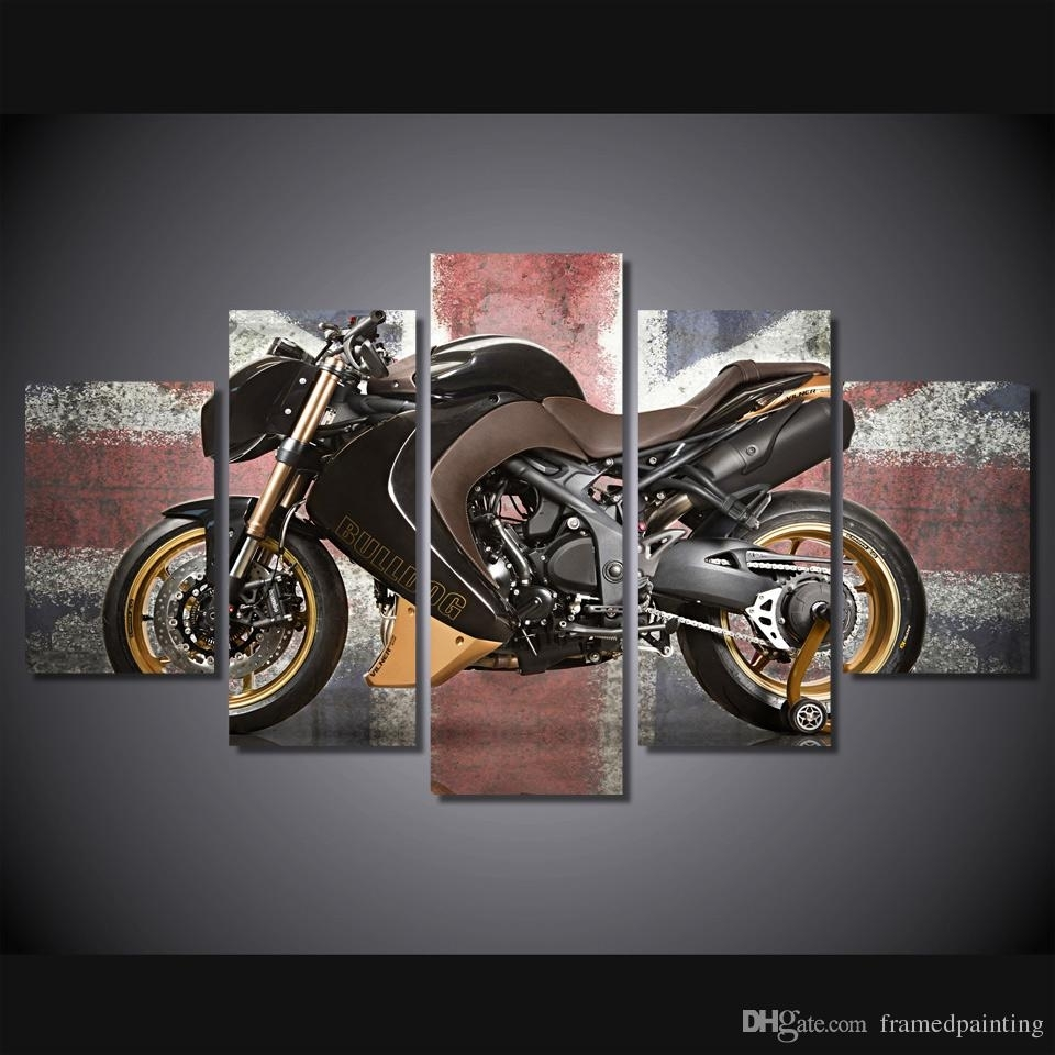 Online Cheap Framed Hd Printed Retro Motorcycle Poster Pictures Room for Motorcycle Wall Art (Image 16 of 20)