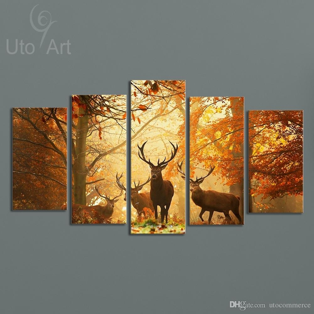 Online Cheap Modern Digital Picture Print On Canvas Animal Deer Intended For Cheap Canvas Wall Art (View 13 of 20)