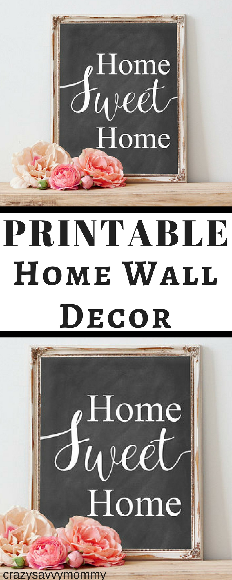 Only $4.49!! Printable Home Wall Decor. Home Sweet Home Chalkboard for Chalkboard Wall Art (Image 15 of 20)