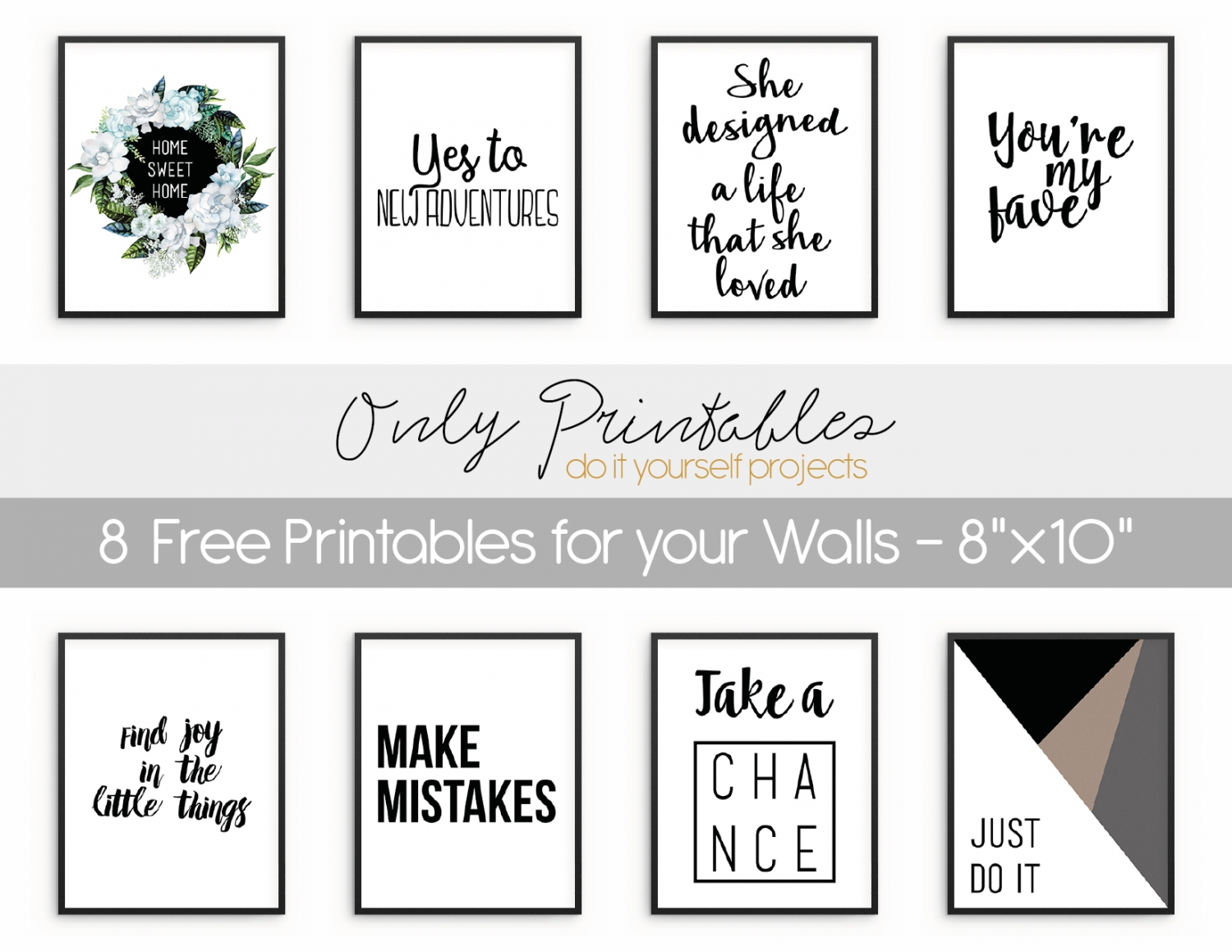 Only Printables   8 Free Printables For Your Walls Intended For Free Printable Wall Art (View 3 of 20)