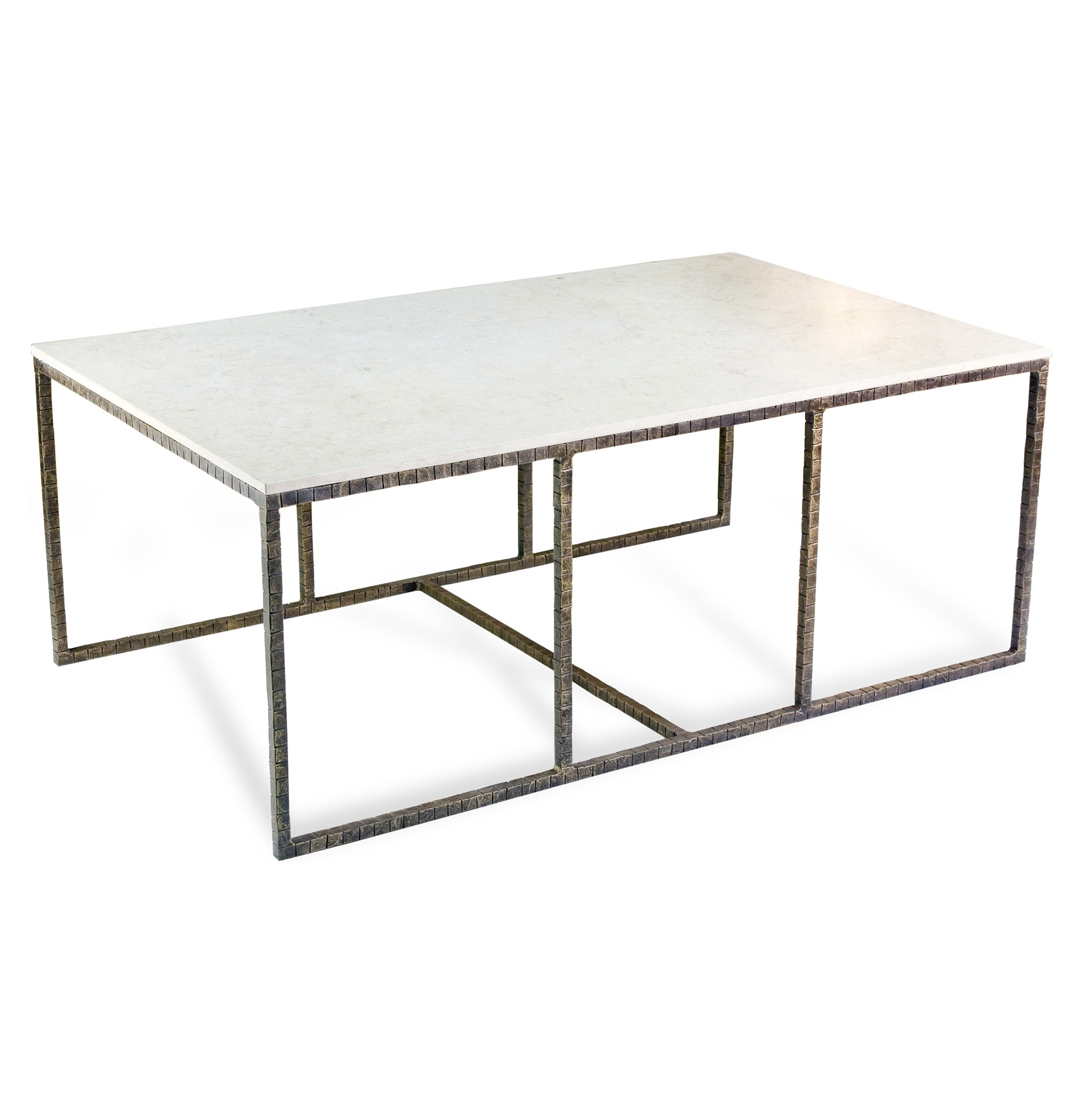 Open Storage Metal Framing Coffee Table Design Come With White regarding Modern Marble Iron Coffee Tables (Image 24 of 30)