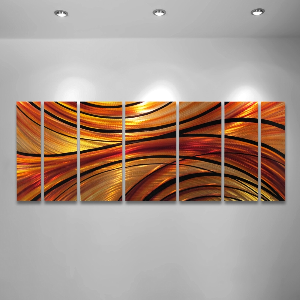 Orange Wall Art Orange Large Modern Abstract Metal Wall Art with regard to Orange Wall Art (Image 15 of 20)