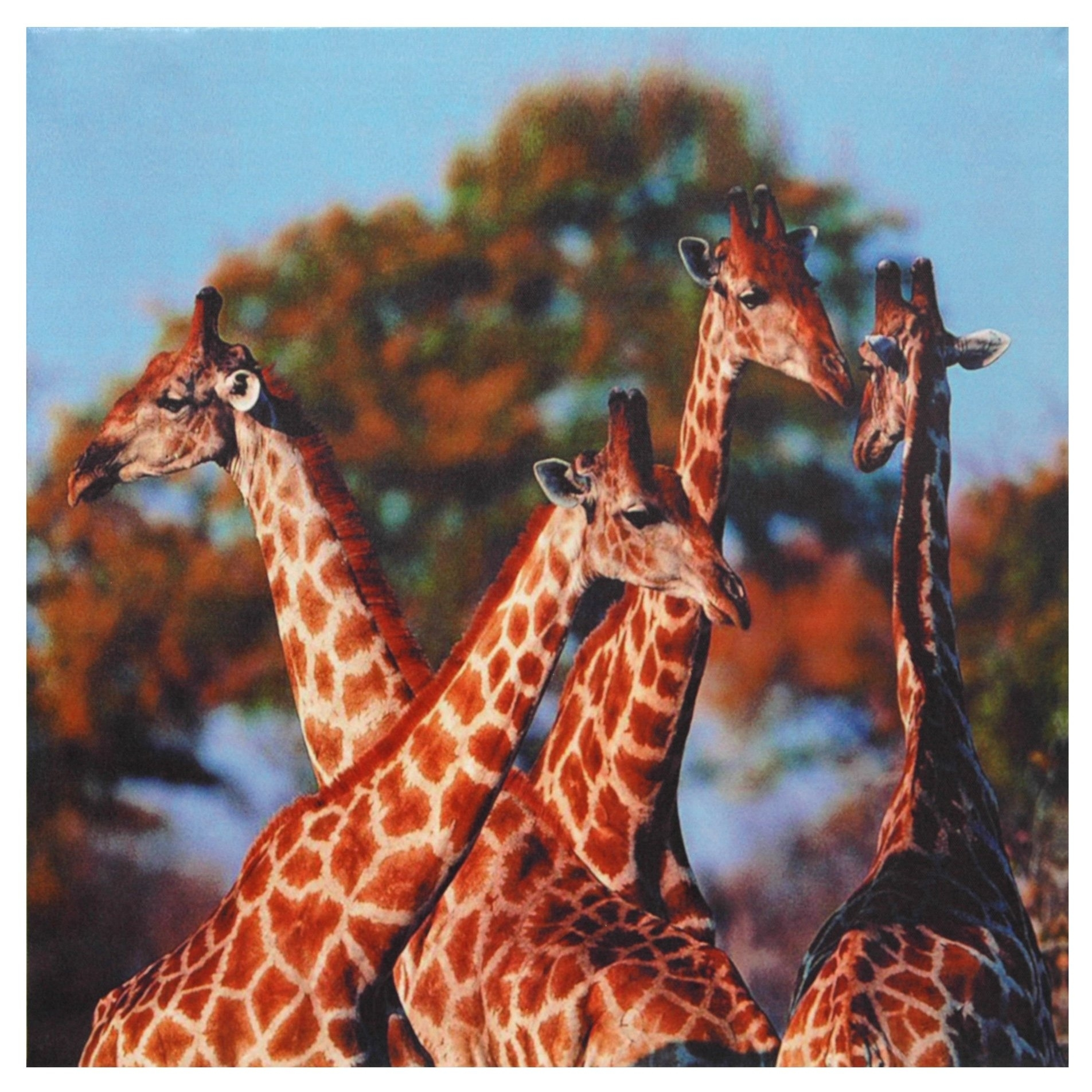 Oriental Furniture Four Prairie Giraffes Canvas Wall Art | Ebay pertaining to Giraffe Canvas Wall Art (Image 16 of 20)