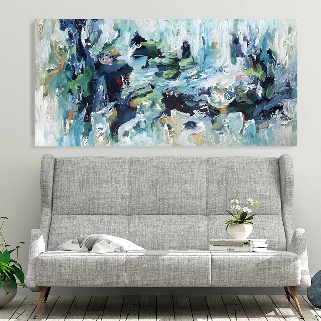 Original Abstract Canvas Painting Large Wall Art Decoromar Obaid For Abstract Canvas Wall Art (View 20 of 20)