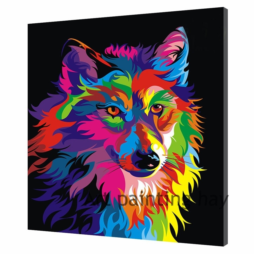 Original Animal Canvas Painting Pictures Art Print On The Canvas for Animal Canvas Wall Art (Image 20 of 20)