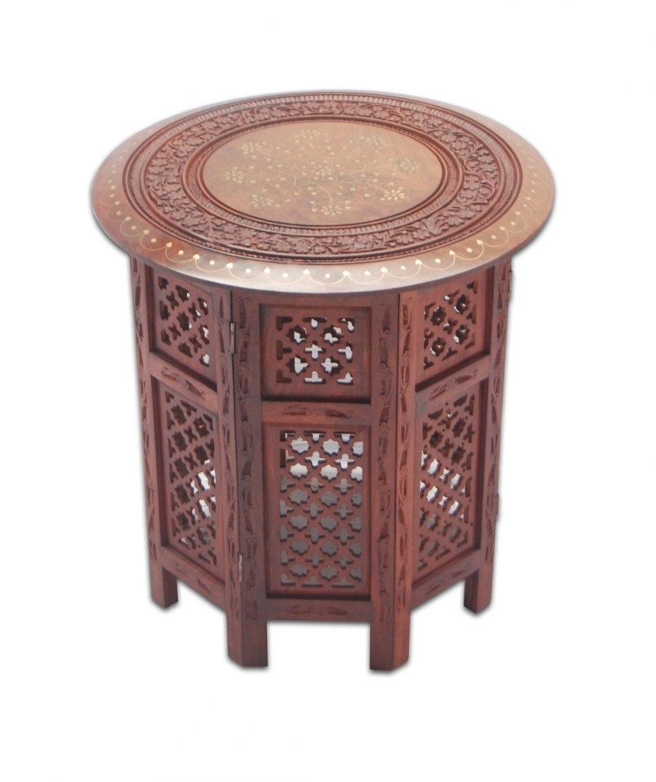 Ornate Carved Wood Oval Coffee Table pertaining to Round Carved Wood Coffee Tables (Image 15 of 30)