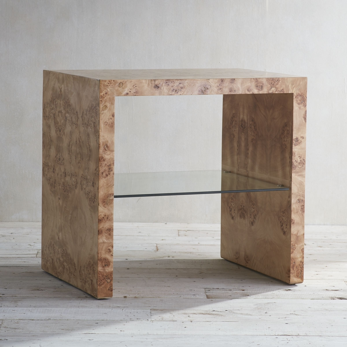 Oslo Burl Wood Veneer Collection - Side Table | Wisteria with Oslo Burl Wood Veneer Coffee Tables (Image 26 of 30)