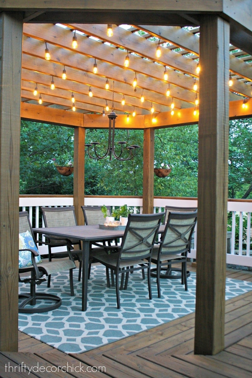 Our Beautiful Outdoor Dining Room | Diy New Home Remodeling for Outdoor Dining Lanterns (Image 10 of 20)