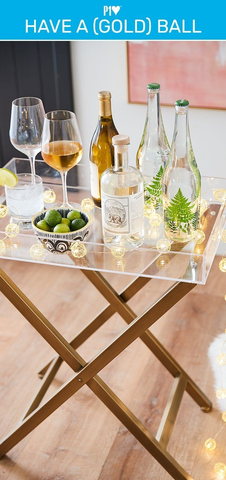 Our Butler's Table Morphs Into A Bar Cart And Gets The Party Started pertaining to Intertwine Triangle Marble Coffee Tables (Image 22 of 30)