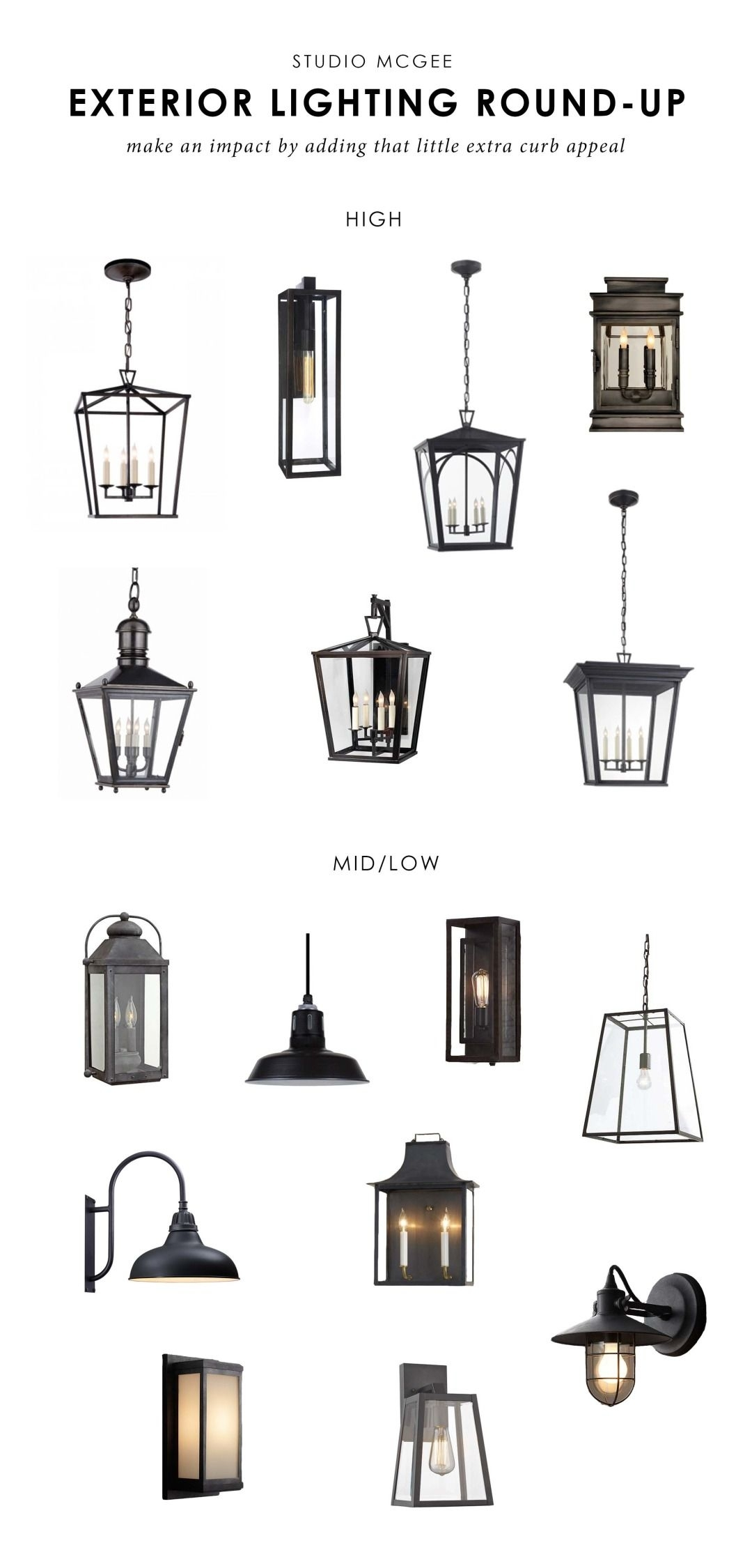 Our Top Picks: Exterior Lighting | Studio Mcgee Blog | Pinterest within Outdoor Round Lanterns (Image 11 of 20)
