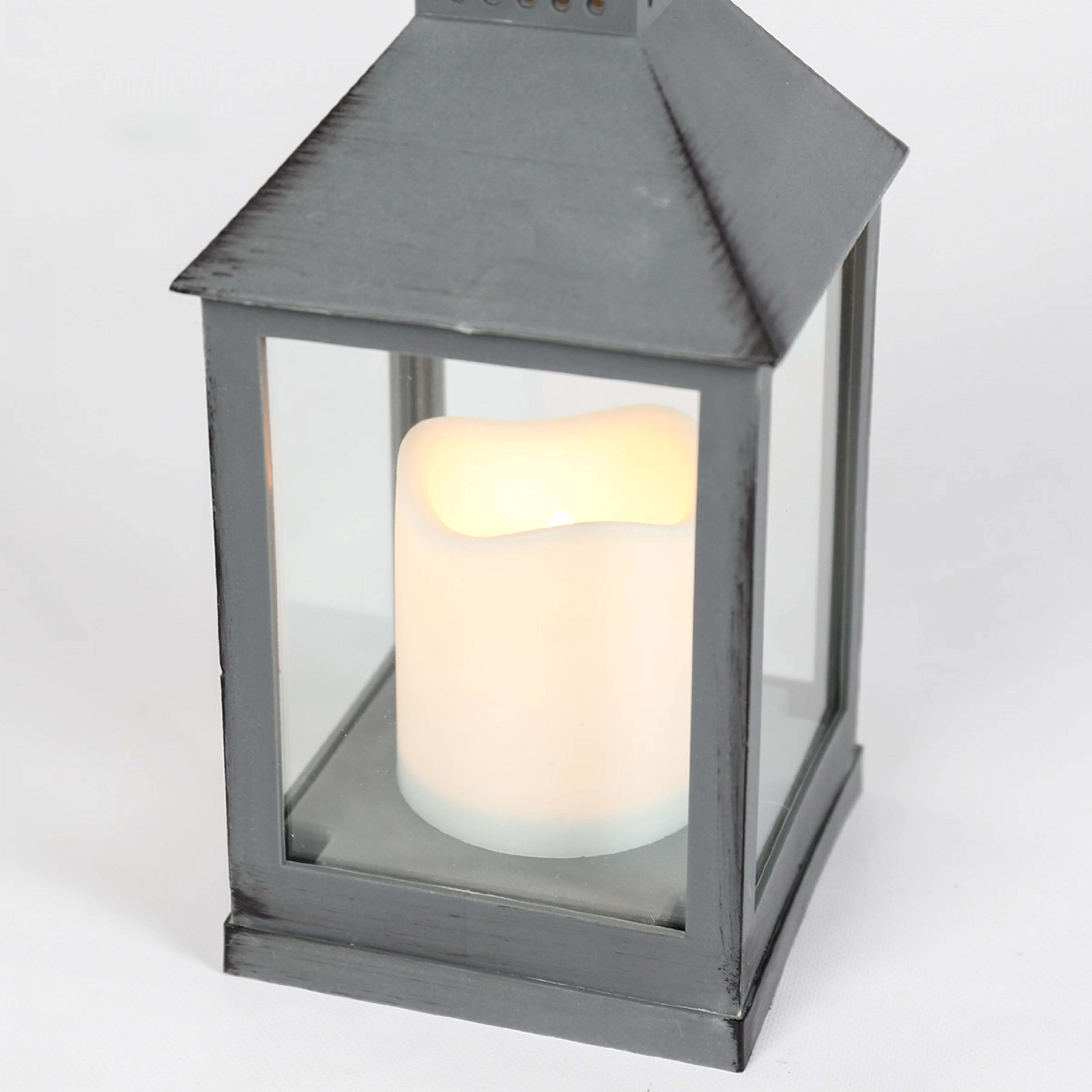 Outdoor Battery Flickering Candle Lantern, 24cm Regarding Outdoor Lanterns With Battery Candles (View 2 of 20)