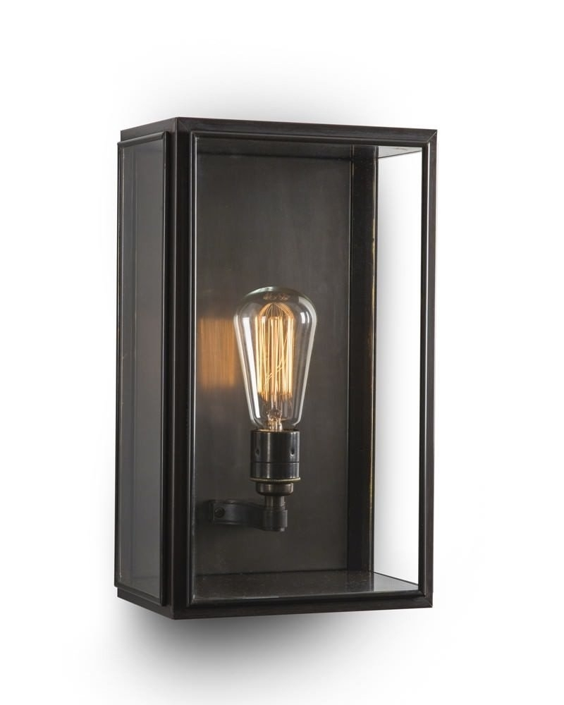 Outdoor Brass Box Wall Lantern, Birch Industrial Retro Lighting pertaining to Industrial Outdoor Lanterns (Image 12 of 20)