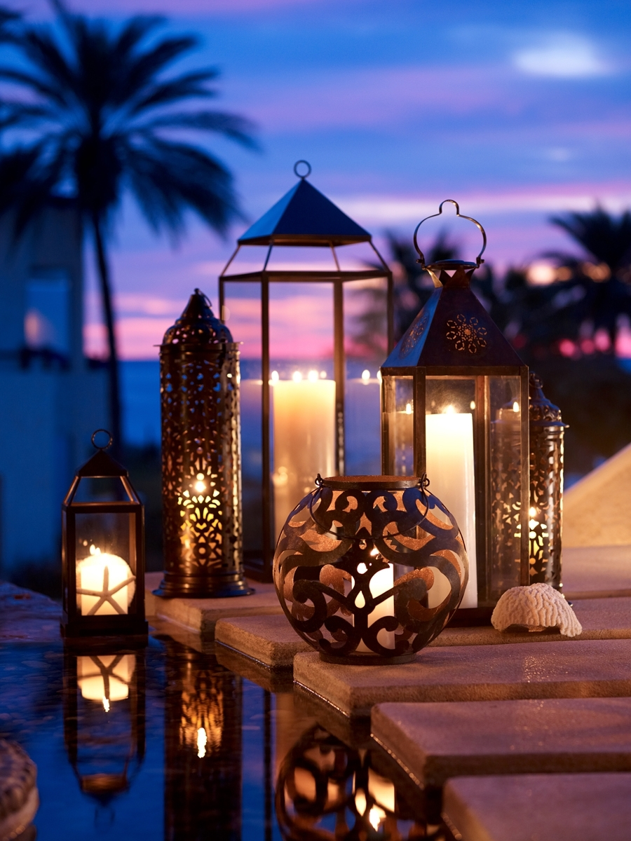 Outdoor Candle Lighting Wall Mounted Holders Ideas Patio Candles in Outdoor Tropical Lanterns (Image 12 of 20)