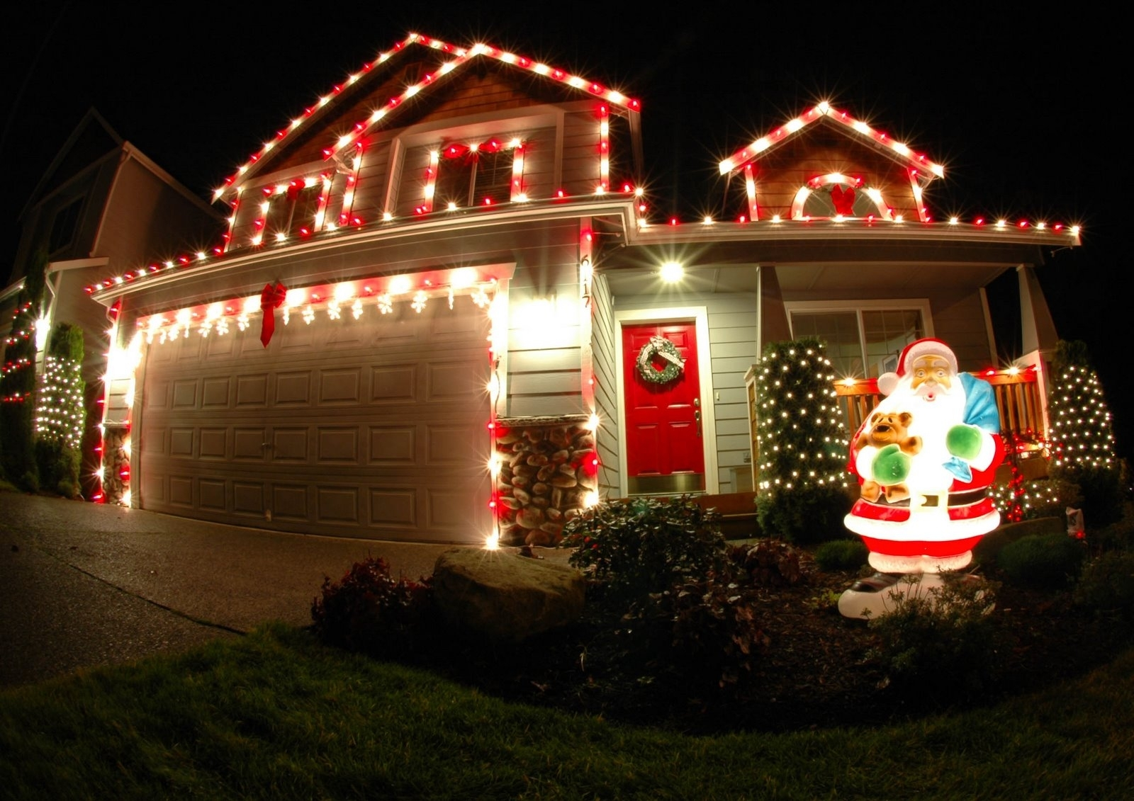 Outdoor Christmas Lights Red — Indoor Outdoor Ideas : Outdoor with regard to Outdoor Christmas Rope Lanterns (Image 12 of 20)