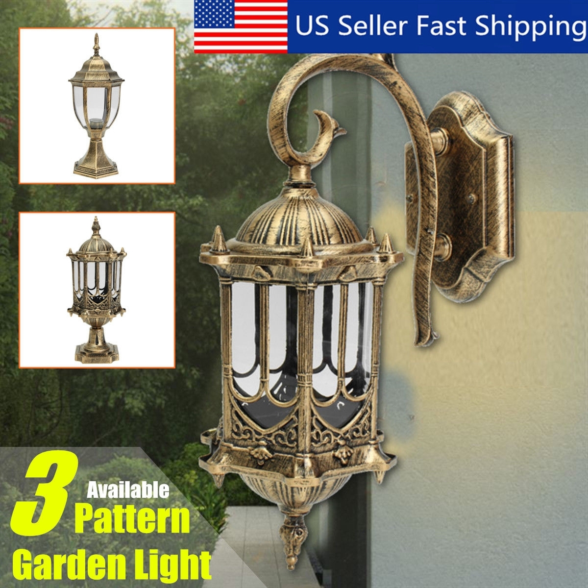 Outdoor Exterior Led Pillar Light Post Lamp Garden Yard Lantern inside Outdoor Yard Lanterns (Image 12 of 20)