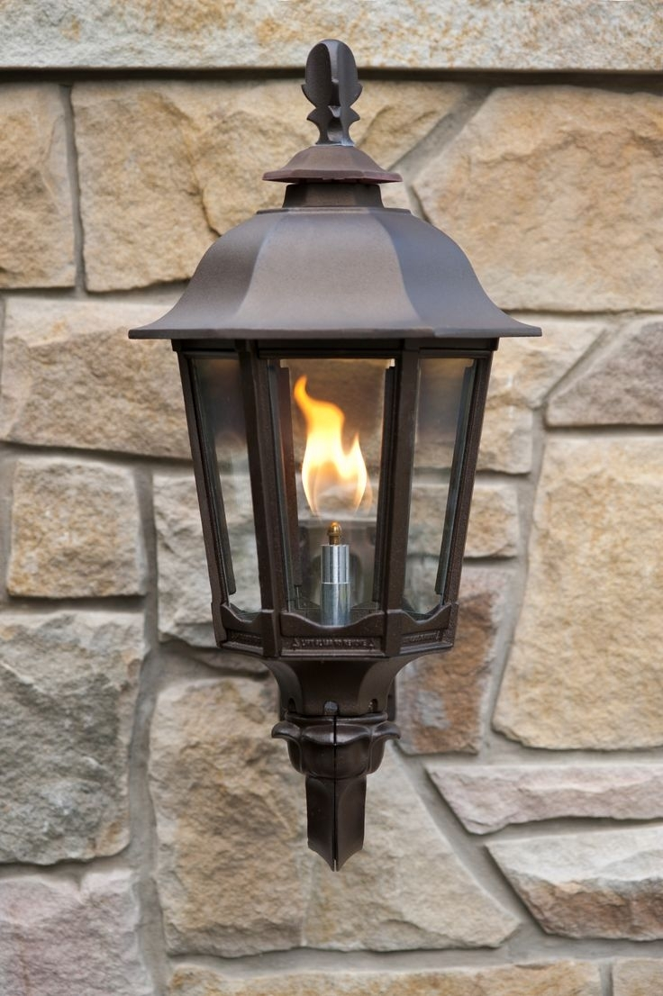 Outdoor Flame Lights - Outdoor Lighting Ideas inside Outdoor Propane Lanterns (Image 11 of 20)