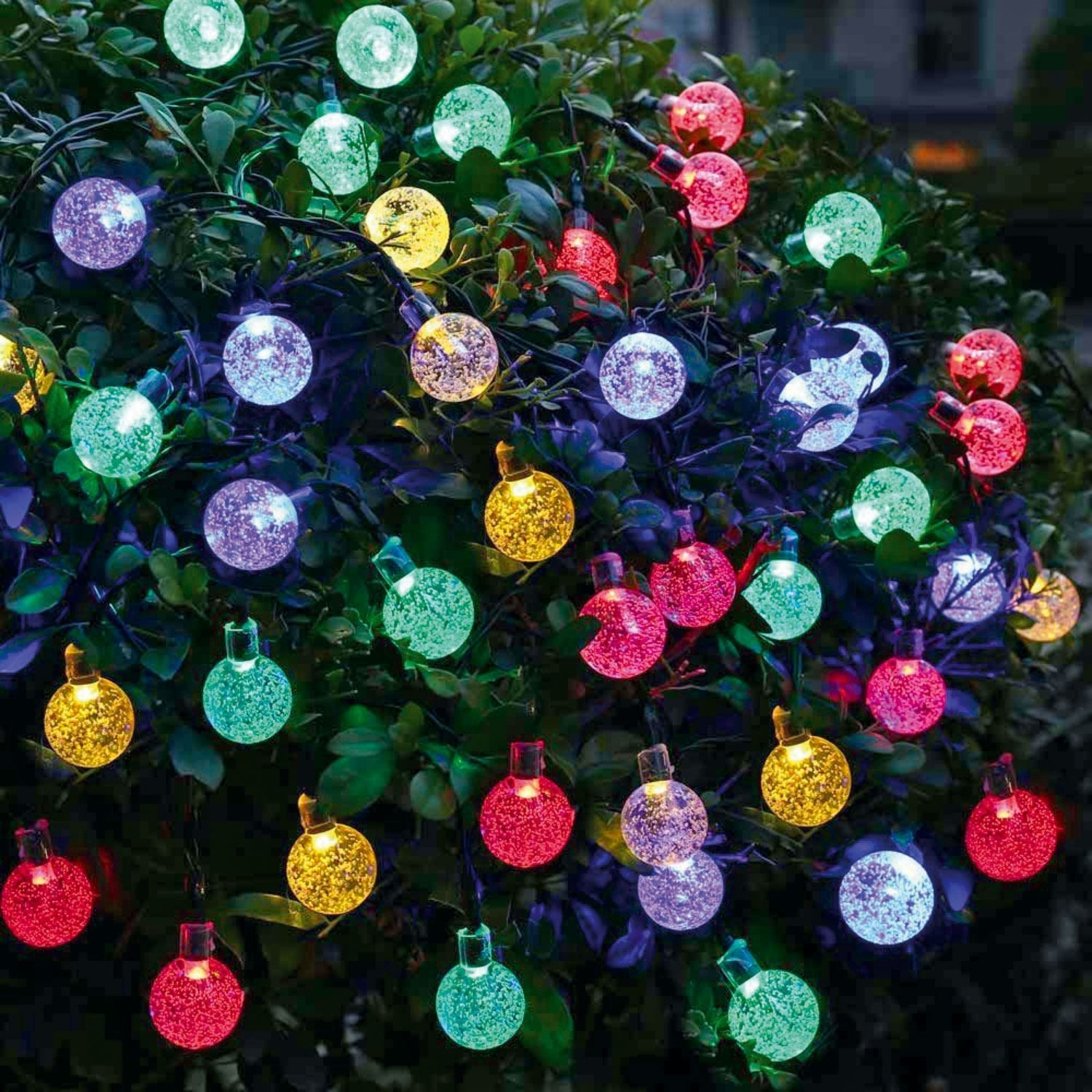 Outdoor Garden Solar String Fairy 30 Led Globe Ball Weatherproof throughout Outdoor Ball Lanterns (Image 9 of 20)