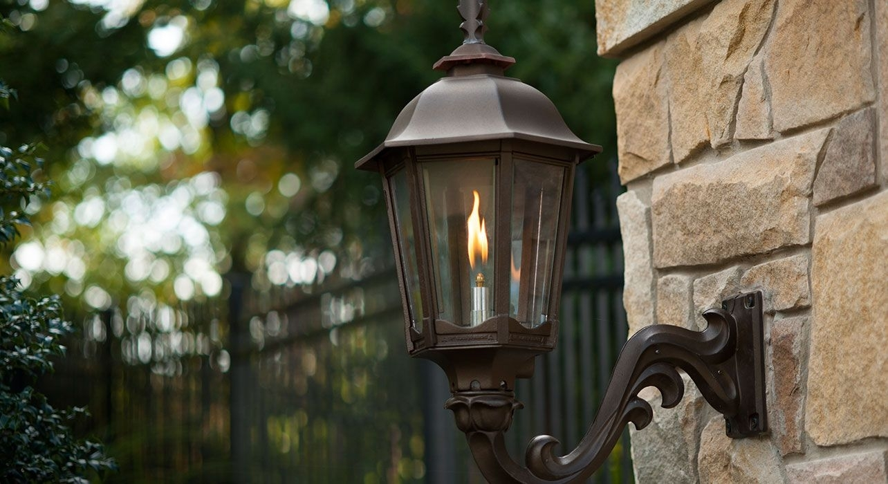 Outdoor Gas Lantern, Next To Or Hanging Above Front Door. ~$400 For with regard to Outdoor Gas Lanterns (Image 9 of 20)