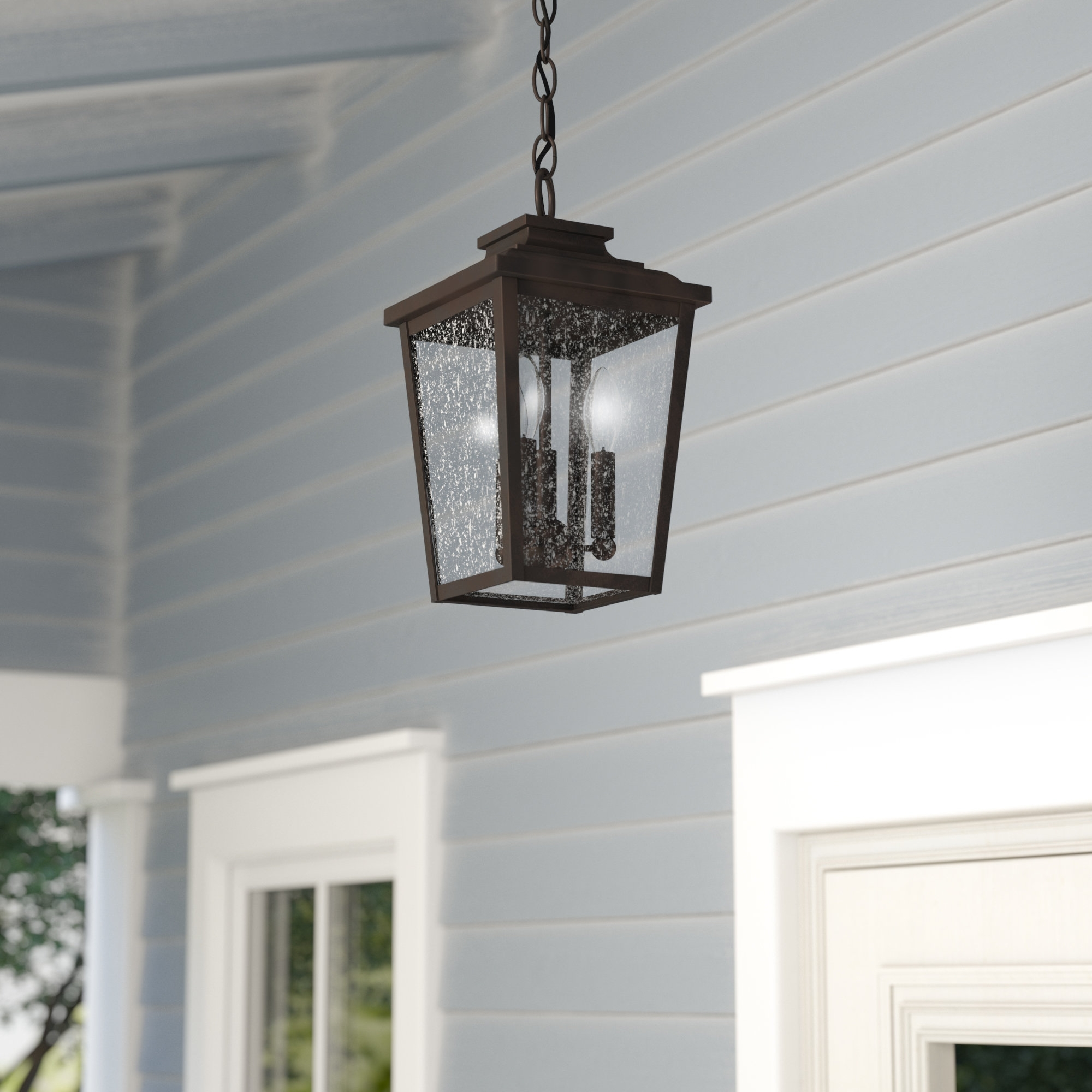 Outdoor Hanging Lights You'll Love | Wayfair regarding Outdoor Lanterns For Front Porch (Image 17 of 20)