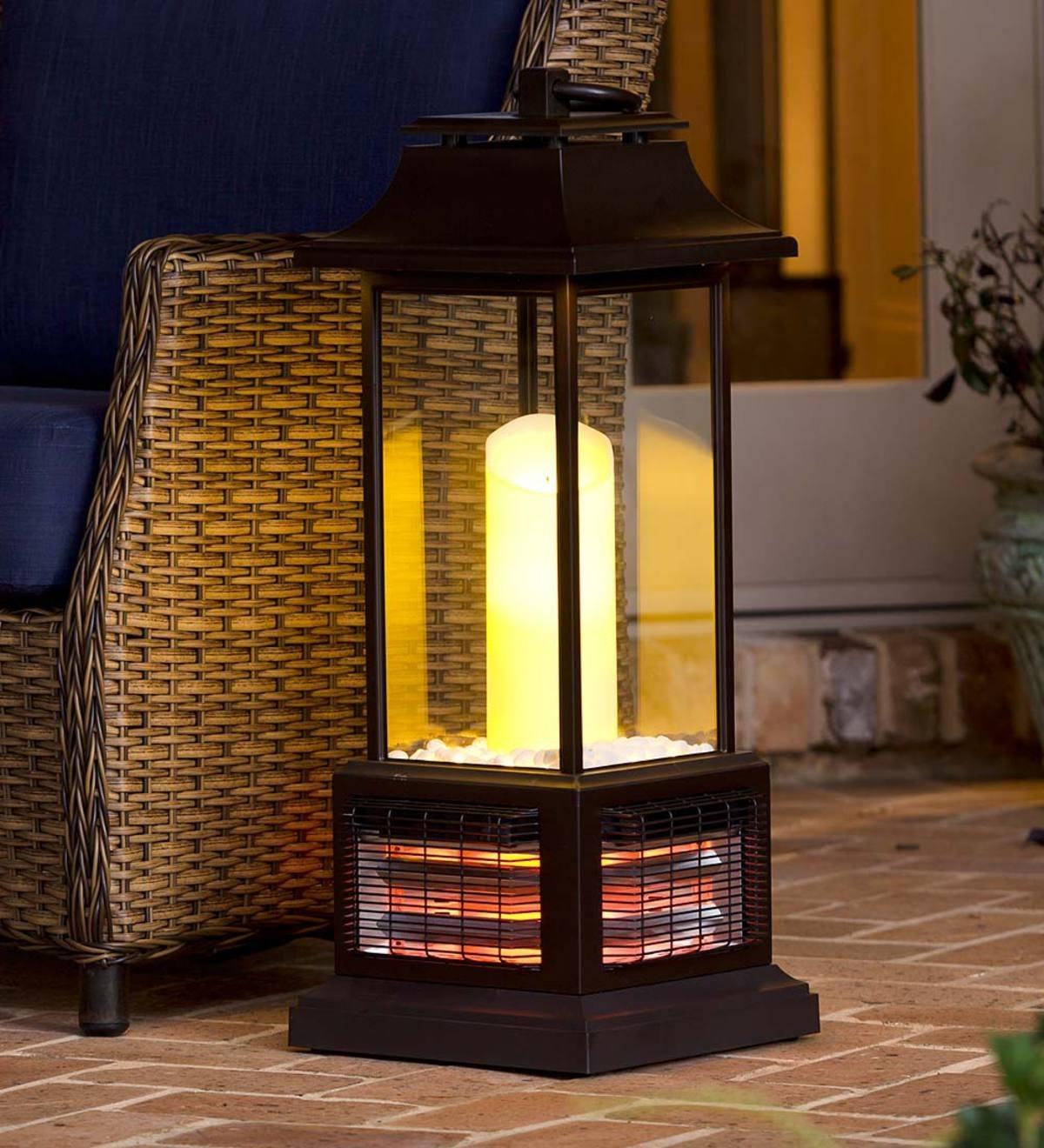 Outdoor Infrared Lantern Heater | Outdoor Lamps & Lighting | Deck regarding Outdoor Lawn Lanterns (Image 11 of 20)