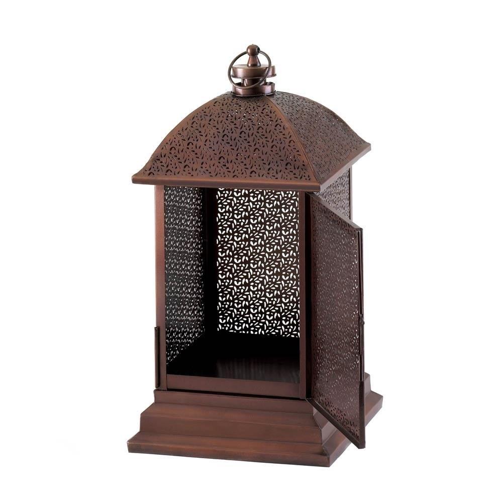Outdoor Lantern Decor, Peregrine Large Metal Decorative Floor Within Metal Outdoor Lanterns (View 16 of 20)