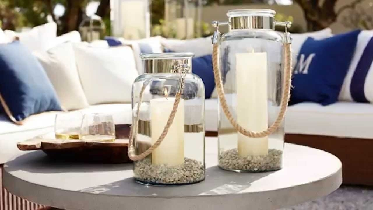 Outdoor Lanterns And Candles For Outdoor Coffee Table Decor |Pottery within Outdoor Lanterns Decors (Image 13 of 20)