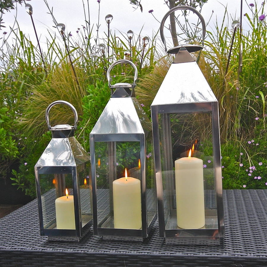 Outdoor Lanterns For Weddings | Notonthehighstreet With Regard To Set Of 3 Outdoor Lanterns (View 14 of 20)