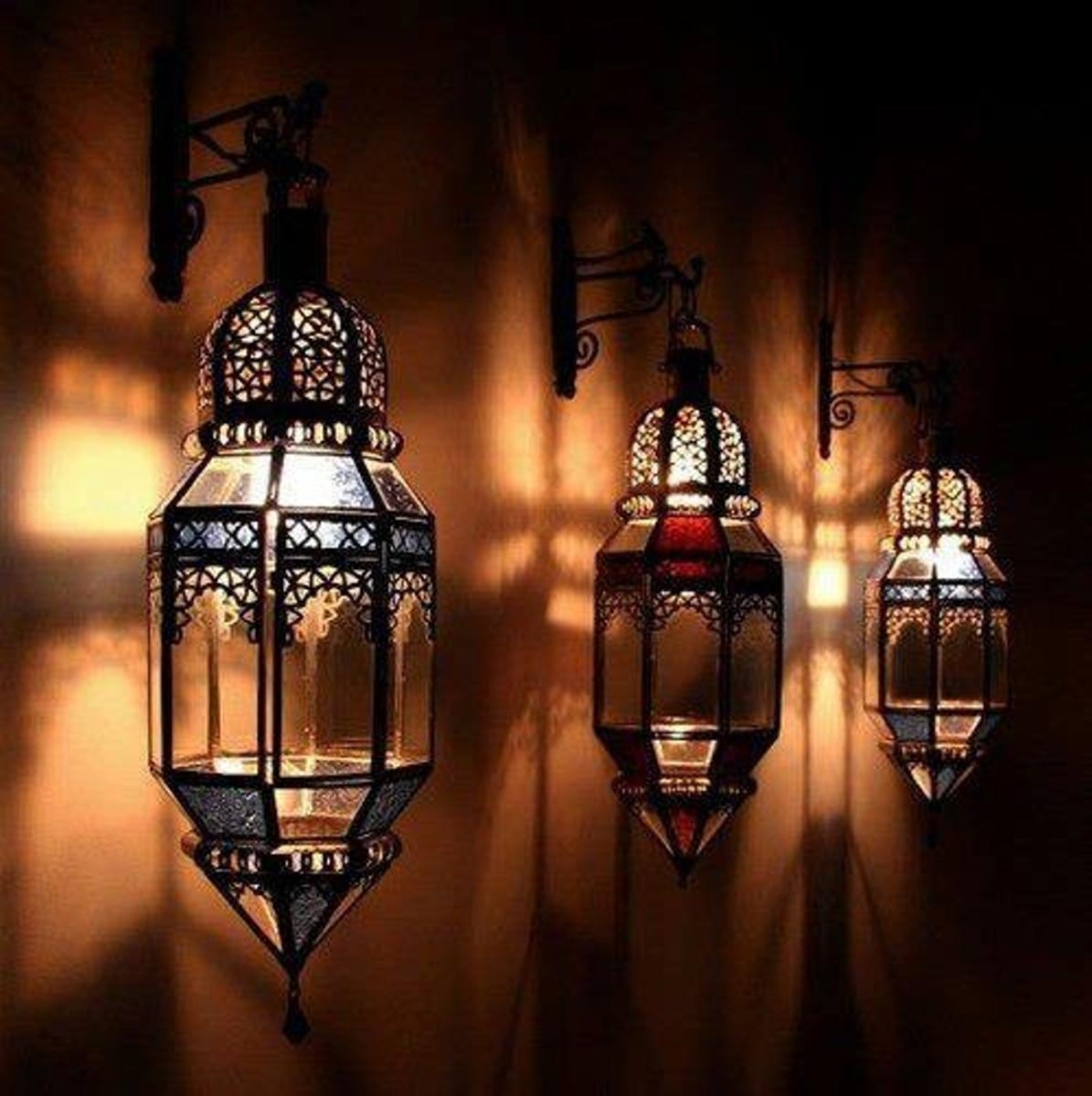 Outdoor Lanterns Moroccan Candle Holders More Lantern Stained throughout Moroccan Outdoor Lanterns (Image 19 of 20)