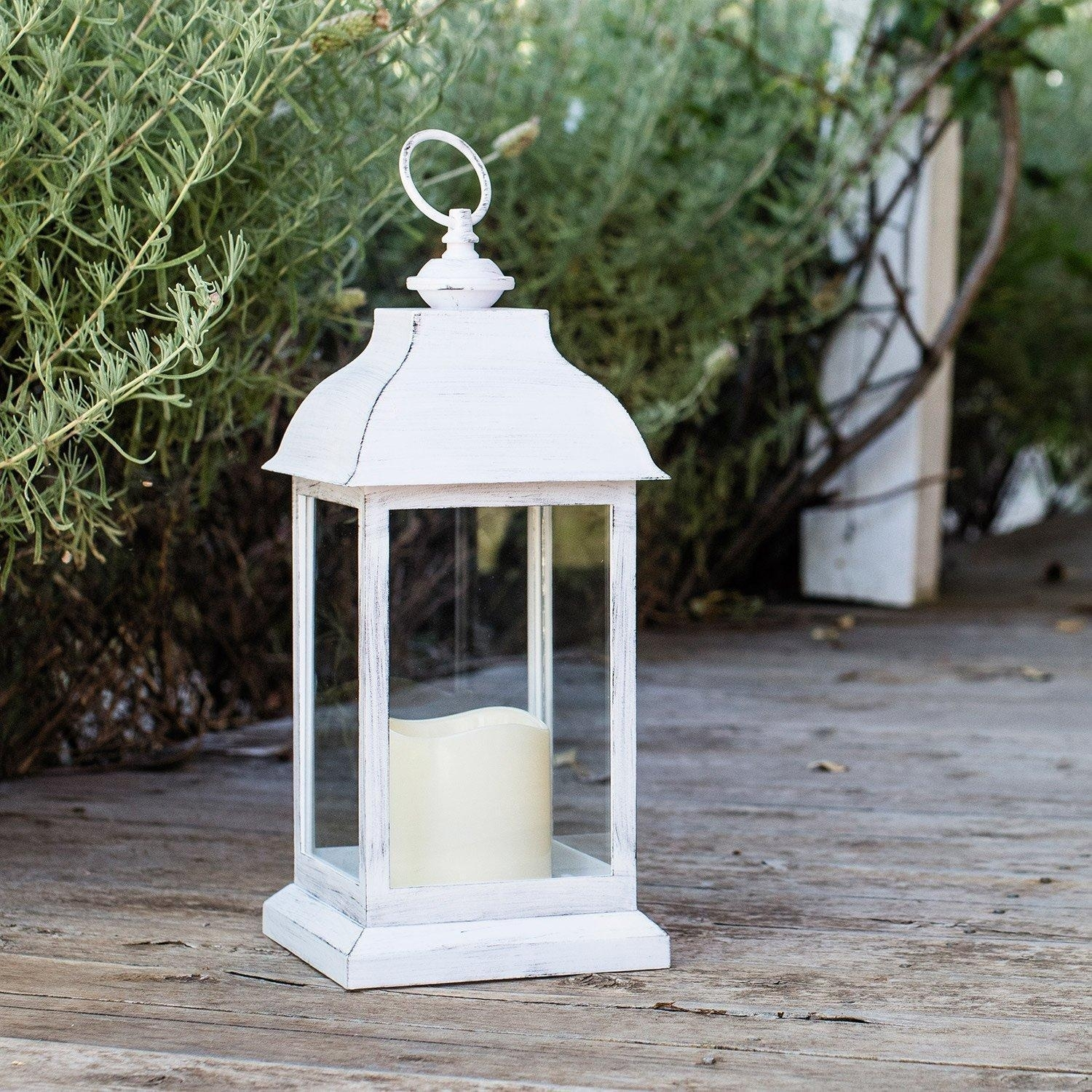 Outdoor Led Candle Lantern Battery Operated Timer Garden Patio Lamp Throughout Outdoor Lanterns With Battery Operated Candles (View 16 of 20)