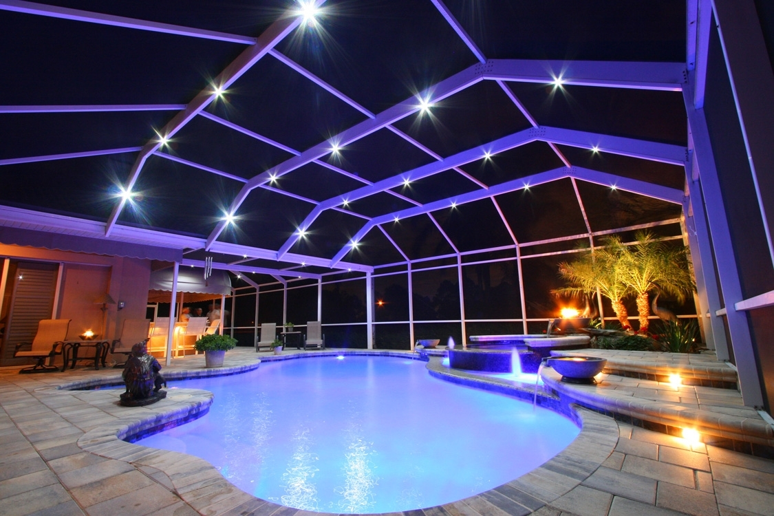 Outdoor Led Pool Lighting For Area Swimming Design Around Portfolio for Outdoor Lanterns For Poolside (Image 13 of 20)